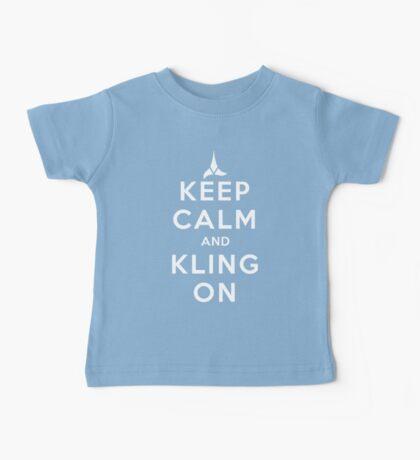 keep calm and kling-on Baby Tee