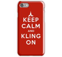 keep calm and kling-on iPhone Case/Skin