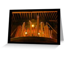 Temple Lights  Greeting Card