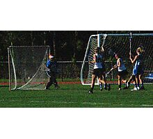 051112 344 1 pointillist girl lacrosse glow Photographic Print