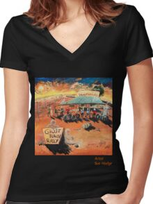 Ghost Town Rally - Silverton Outback NSW Women's Fitted V-Neck T-Shirt