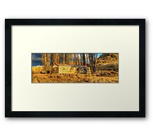 Gone Fishing .... Back Soon Framed Print