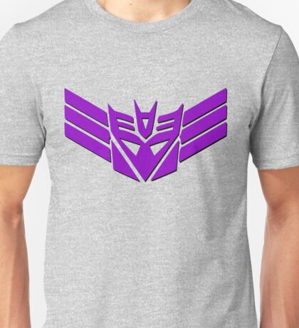 Tranformers Decepticon Logo Unisex T-Shirt