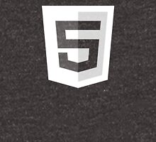 HTML 5 - White/Black (Badge) Unisex T-Shirt