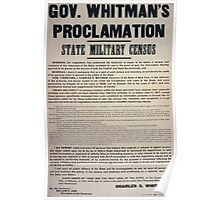 Gov Whitmans proclamation State military census 002 Poster