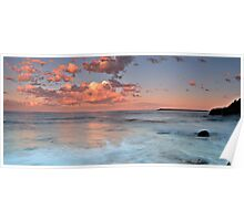 Pink Pano, Caves Beach Poster
