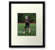 051612 018 0 pointillist boys lacrosse Framed Print