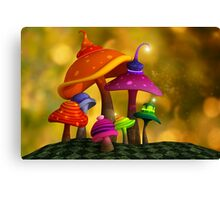 Whimsical Mushrooms Canvas Print
