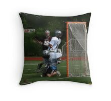 051612 035 0 oil boys lacrosse Throw Pillow
