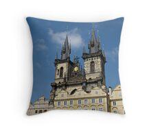 Tyn Church Prague Throw Pillow