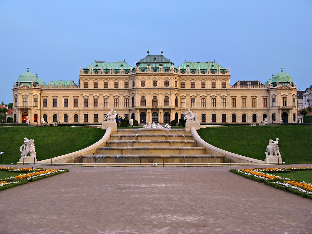 Belvedere Palace in Vienna by kirilart