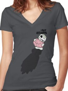 I Got Brains Women's Fitted V-Neck T-Shirt