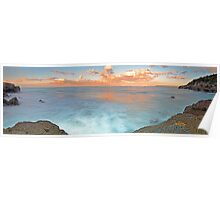 Pink Pano 2, Caves Beach Poster