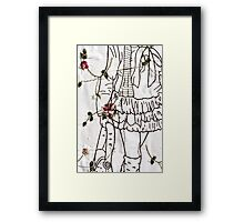 White Poached Pepper Framed Print