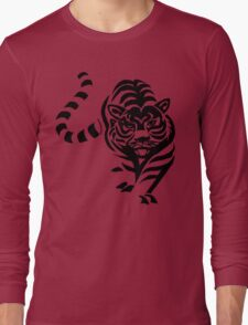 tiger t-shirt on lite Long Sleeve T-Shirt
