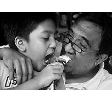The joy of sharing. Photographic Print
