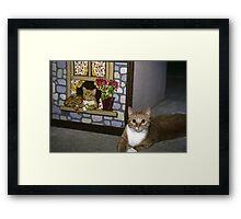 Cat Art Imitates Life Framed Print