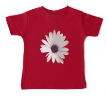 White Daisy Isolated On White Baby Tee