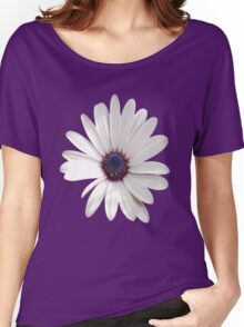 White Daisy Isolated On White Women's Relaxed Fit T-Shirt