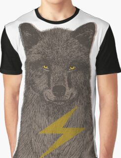 Warning: Electric Wolf Graphic T-Shirt
