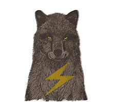 Warning: Electric Wolf Photographic Print