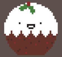Cute Christmas Pixel Pud One Piece - Short Sleeve