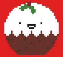 Cute Christmas Pixel Pud Kids Tee