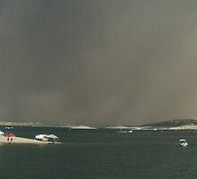 Panaramic View of incoming Habub- Lake Pleasant, AZ by johntbell
