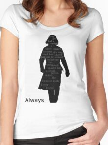 Severus Snape Always. Women's Fitted Scoop T-Shirt