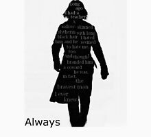 Severus Snape Always. Womens Fitted T-Shirt