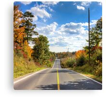 Autumn Road to Nowhere Canvas Print