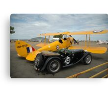 Two Classic Vehicles, Cunderdin Airshow, Australia 2005 Canvas Print