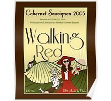 Walking Red: A Fine Wine Poster