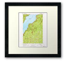 USGS Topo Map Washington State WA Holly 241552 1953 24000 Framed Print