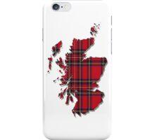 Tartan Map of Scotland iPhone Case iPhone Case/Skin