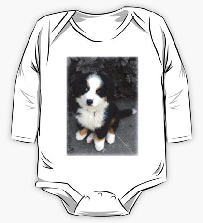 Cute Bernese Mountain Dog Puppy One Piece - Long Sleeve