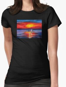 Sea  Womens Fitted T-Shirt