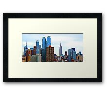Cityscape Empire State Building Framed Print
