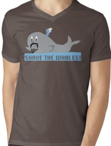 Shave the Whales Mens V-Neck T-Shirt