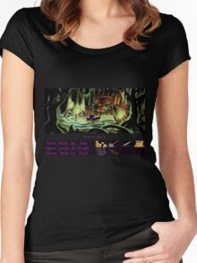 Guybrush Rows to Shack Women's Fitted Scoop T-Shirt