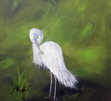 Judys' Heron by sharon burger