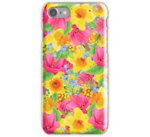 Colorful Abstract Flowers Illustration iPhone Case/Skin