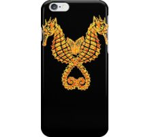 Sea Horses Tribal Tattoo iPhone Case/Skin