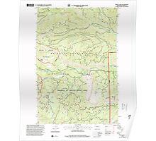 USGS Topo Map Washington State WA Meeks Table 242288 2000 24000 Poster