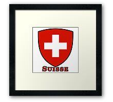 suisse switzerland Framed Print