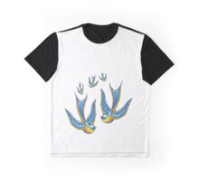 Tattoo Style Swallow  Graphic T-Shirt