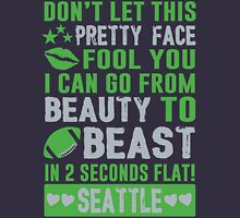 Beauty To Beast. Love Seattle Football. Unisex T-Shirt