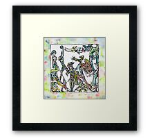 ROOM OF THE PLAYING FRIENDS Framed Print