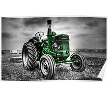 Tractor Green Poster