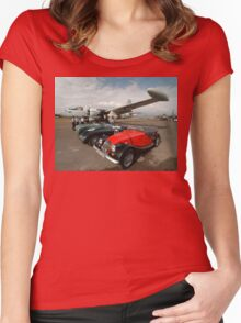 3 Classic Cars & 2 Neptunes, Albion Park Women's Fitted Scoop T-Shirt